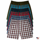Men Boxer Plaid Shorts Panties Underwear Comfort Briefs Waistband Cotton 3piece