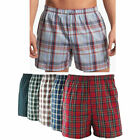 Men Boxer Plaid Shorts Panties Underwear Comfort Briefs Waistband 3piece Cotton