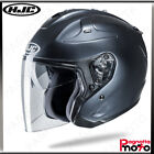 CASCO JET OPEN FACE DOPPIA VISIERA HJC FG-JET METAL ANTHRACITE ANTRACITE