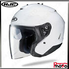 CASCO JET OPEN FACE DOPPIA VISIERA HJC IS-33 II SOLID WHITE BIANCO