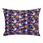 Halloween Vampire Ghost Witch Pumpkin Spider Pillow Sham by Roostery image