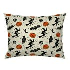 Pumpkin Witches Brooms Owls Bats Stars Moons Pillow Sham by Roostery image
