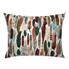 Fall Colors Autumn Colors Nature Herring Bone Orange And Pillow Sham by Roostery image