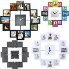 Photo Frame Clock Picture Collage 12-P Display Wall Clock Photowall Home Decor