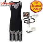 N16 Beaded Ladies 1920s Roaring 20s Gatsby 20's Flapper Costume Sequins Dress