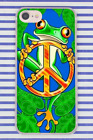 Hippie Psychedelic Peace Art Green Frog Hard Cover Case For iPhone Huawei New