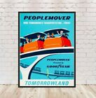 People Mover Poster Tomorrowland Poster Vintage Disney Poster Disney World