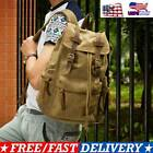 Canvas Travel Sport Camping School Satchel Laptop Hiking Bag Backpack Rucksack