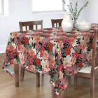 Tablecloth Frenchie Floral French Bulldog Dog Lover' Novelty Lover Cotton Sateen