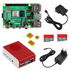 Raspberry pi 4 complete Kit 1/2/4GB with case power adapter heat sink SD card