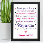 Birthday Stepmum Gifts PERSONALISED Gifts for Step Mum from Stepdaughter Son