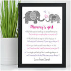 PERSONALISED Mummy and Daughter Son Birthday Gifts for Mummy Mum Nanny Her