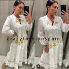 ZARA WOMAN NWT SS20 WHITE LONG EMBROIDERED DRESS ALL SIZES REF: 4786/062