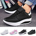 Womens Platform Shoes Shape Ups Toning Fitness Walking Sport Lace Up Sneakers