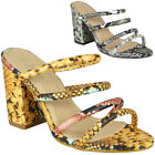 Womens Sandals Open Toe Ladies Summer Strappy High Heels Comfy Party Shoes Size