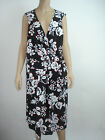 Basic Editions Dress Black White Red Floral Sleeveless Sexy Plus Size