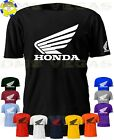 Honda Racing Motorcycle ATV Wing Logo Tee T-Shirt Men Unisex S-5XL Auto Parts image