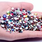 Glitter Crystal Ab Non Hotfix Rhinestones White Clear 3d Nail Art Stones Strass