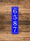 """Personalized Home Address Sign Aluminum 3"""" x 12"""" Custom House Number Plaque sq9"""