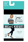 Just My Size by Hanes Stretch Cotton Women's Footless Blackout Tights 1x-4x