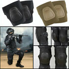 Military Tactical Airsoft Knee Combat Protective Gear Knee Pads Black/Tan New image