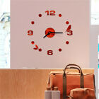 Wall Clock Big Watch Decal 3D Stickers Roman Numerals DIY Wall Modern Home Use