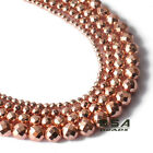 Kyпить Faceted Hematite Rose Gold Round Beads 15.5'' Loose Bead Spacer 4mm 6mm 8mm 10mm на еВаy.соm