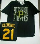 ROBERTO CLEMENTE PITTSBURGH PIRATES NAME AND NUMBER SHIRT BLACK MENS XL