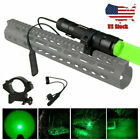 5000Lm Green Red White LED Flashlight  Predator Coyote Hunting Light Rail Mount