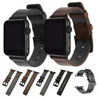 40/44mm Genuine Leather iWatch Band Strap Bracelet Apple Watch Series 5 4 3 2 1 image