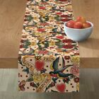 Table Runner Tattoo Vintage Body Art Steampunk Gothic Romantic Cotton Sateen