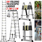 2020 Aluminium Folding Telescopic Ladder Step Ladder Multi-Purpose Extendable UK
