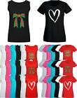 Women Ladies Slogan Print T shirt & Vest Trendy Basic Summer Tank Top 04