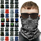3-12Pcs Tube Bandana Scarf Neck Gaiter Head Face Mask Multi-use Outdoor Cap Lot