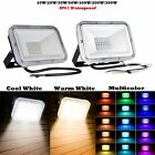 30W 50W 100W RGB LED Flood Light Outdoor Color Changing Remote Control W/ Memory
