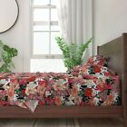 Frenchie Floral French Bulldog Dog 100% Cotton Sateen Sheet Set by Roostery