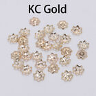 600pcs/Lot 6mm Hollow Flower Metal Filigree Loose Spacer Bead Caps Cone End