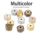 200pcs KC Gold Rhodium Bulk CCB Plastic Bead Wheel Round Loose Spacer Beads For
