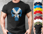 Scotland Skull Gym T-Shirt Mens Gym Clothing | Workout Training Bodybuilding Top