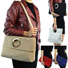 Womens Clutch Bag Faux Suede Top Handle Foldable Evening Fashion Tote Handbag