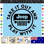 Jeep Play With It  - Vinyl Decal Adhesive Sticker Car/wall/laptop