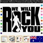 Queen - We Will Rock You Music - Vinyl Decal Adhesive Sticker Car/wall/laptop
