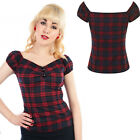 COLLECTIF DELORES GYPSY BLOUSE TOP 50'S ROCKABILLY VINTAGE ALTERNATIVE SIZE 8