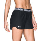 Under Armour UA HeatGear Black Gym Sports Training Play Up 2.0 Ladies Shorts