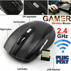 USA 2.4GHz Wireless Optical Mouse Mice & USB Receiver For PC Laptop Computer DPI