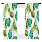 Miracille Tropical Leaves Digital Printing Window Curtain Blackout Satin