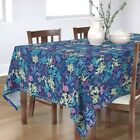 Tablecloth Seaweed Plant Underwater Silhouette Texture Dark Cotton Sateen