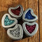 10 Pack Silver Various Shape Window Tin Favor Boxes