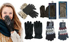 Mens Ladies Gloves Leather Knitted Touchscreen Warm Winter Christmas Gift
