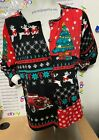 Red Truck CHRISTMAS Patchwork CARDIGAN Style TEE WOMAN'S Size XL NWT IN PACKAGE